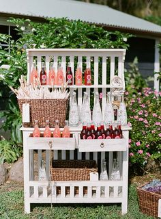 refreshing drinks and cute umbrella to keep you cool for summer wedding.  :)