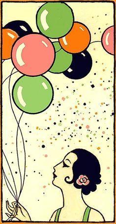 Ideas Art Deco Design Illustration Flappers For 2019 Art Et Architecture, Illustration Art Nouveau, Vintage Magazine, Vintage Birthday, Art Deco Era, Art Deco Design, Art Plastique, Vintage Cards, Vintage Posters