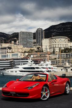 Ferrari 458 Spider on the Monaco scene #CarFlash