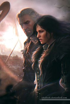 Geralt and Yennefer http://the-witcher.tumblr.com/