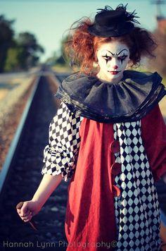 Maquillage clown – nez rouge, humour noir