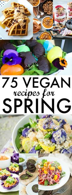 ... via fresh produce, there are tons of things I can't wait to eat this Spring. Here's a small list of vegan Spring recipes that are getting me excited.