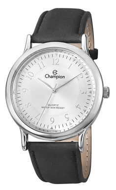 13da92a0c9e Champion CH22813Q Men s Watch Silver Dial With Black Leather Strap Watches  For Men