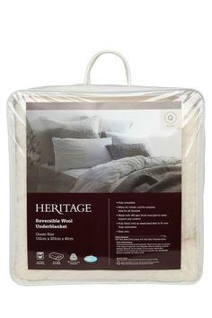 Heritage   Reversible Wool Underblanket   Myer Online