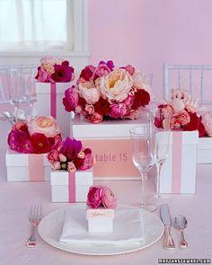 Love flowers on gifts via Martha Stewart.