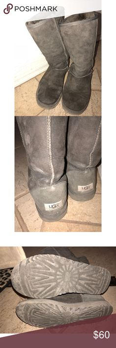 Classic tall gray ugg boots Clean, no rips or tears. UGG Shoes Winter & Rain Boots
