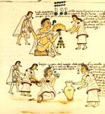 Foundation for the Advancement of Mesoamerican Studies: THE AZTECS: AZTEC SOCIETY. Relates to Frontispiece of the Codex Mendoza. Viceroyalty of New Spain. c. 1541–1542 C.E. Pigment on paper.