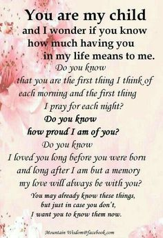 I love you more than life quotes i love you my daughter quotes and i My Children Quotes, Quotes For Kids, Family Quotes, Life Quotes, Wisdom Quotes, Prayer Quotes, Love My Children, I Love My Kids, Boy Quotes