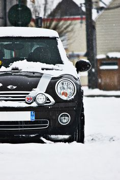 Snowy Mini Cooper By Fabrice Staszak | Dream MINI Cooper | black | details…