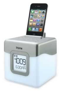 iHome Color changing alarm clock speaker system with USB charging and FM radio