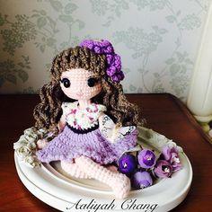 星辰花女孩 #星辰花 #dolls #crochetdoll #amigurumi #craft #handmade #毛線娃娃 #編織 #編みぐるみ #手作り #人形娃娃