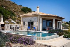 Perfect Couple, Greek Islands, Villa, Homes, Mansions, Landscape, House Styles, Greek Isles, Mansion Houses