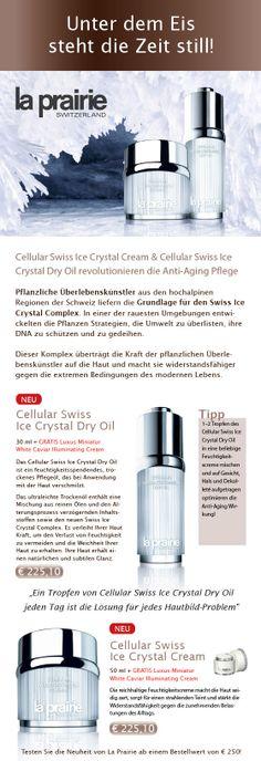 #La #Prairie Swiss Crystal Ice - Neuheiten und Pflegetipps aus unserem Newsletter. Jetzt inkl. GRATIS Luxus Miniatur