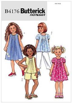 bcc0a04138bc8 Butterick Pattern Girls Top Dress Shorts Pants Size 6 7 8 Uncut New