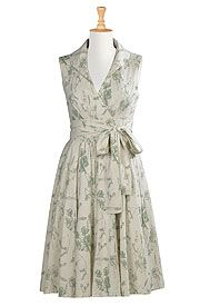 Washed floral cotton linen dress...i think i love every dress on this site