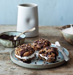 Chocolate-Oatmeal Moon Pies Recipe from Chef Stephen Stryjewski, Cochon, New Orleans, LA | Epicurious.com