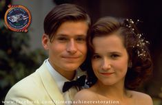 Aww, look how young they look!!!  George & Lorraine McFly from Back To The Future played by Crispin Glover & Lea Thompson.  Posted by:  https://www.facebook.com/timemachinerestoration