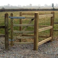 TATE Kissing Gate Kit for rural setting and public footpath access; pedestrian access only. Includes softwood field gate, posts, rails and hanging set. Farm Gate, Farm Fence, Cattle Gate, Cattle Corrals, Pasture Fencing, Farm Hacks, Farm Layout, Fence Design, Entrance Design