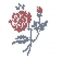 motif de broderie Fleur de Digoin : Broderie par un-temps-de-reve