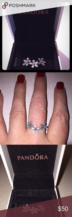 Authentic Pandora Ring Gorgeous Authentic Pandora stackable ring. Brand new condition, size 7.5. Pandora Jewelry Rings