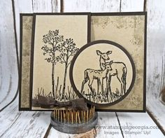 handmade In The Meadow Card ... shades of kraft ... lovely textures stamping ... Stampin' Up!