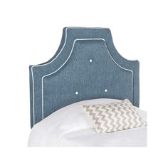 Safavieh Tallulah Arched Button Tufted Twin Headboard, Blue