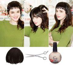 Hannah Johnson Tests The Mini Bang Trend 2013 - FLARE