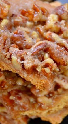 Pecan Pie Bark | desserts with nuts, best desserts