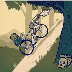 Cuando la subida no termina The neverending uphill IG source @hizokucycles #bicicleta #bicycle #ciclismo…