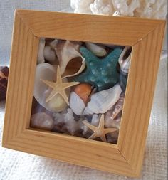 15 DIY Seashell Crafts for Kids   Revamp a Frame To A Cute Shadow Box   DIY Beach Bedroom Decor Ideas   Beach Wedding Decor Ideas