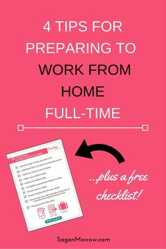 Get 4 tips + 10 actionable steps for preparing to work from home full-time in this article on how to set up a home-based business! Bye 9 to…