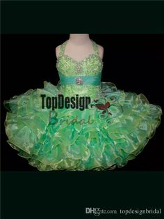 2017 Wholesale Multi Colored Toddler Pageant Dress Little Girl Cupcake Dresses Style Sr264 Affordable Pageant Dresses Baby Beauty Pageant Dresses From Topdesignbridal, $80.4  Dhgate.Com