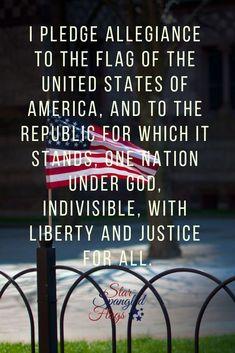 American Flag Pledge American Freedom, American Pride, American History, I Love America, God Bless America, Patriotic Pictures, Patriotic Quotes, Best Flags, I Pledge Allegiance