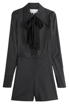 39cf35aabc7 Maison Margiela - Pinstriped Wool Playsuit