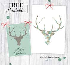 deers and antlers with a woodland green and light brown color scheme and a splash of glitter - printables :: strok is coming
