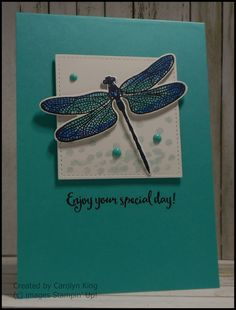 Hi everyone, I was a bit excited when I got home from work today and found my Product Purchase Premiere Stampin' Up! order on my doorstep. Handmade Birthday Cards, Greeting Cards Handmade, Bee Cards, Dragonfly Art, Stamping Up Cards, Butterfly Cards, Animal Cards, Tampons, Paper Cards