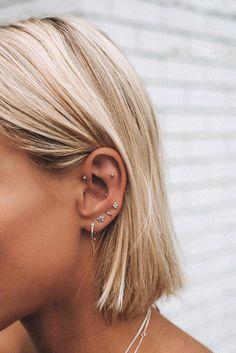 No Piercing Conch Cartilage Ear Cuff Sea Waves/piercing imitation/ear jacket/ear manschette/ohrklemme ohrclip/fake faux piercing/ear climber - Custom Jewelry Ideas Smiley Piercing, Daith Piercing, Piercing Tattoo, Ear Piercings Rook, Flat Piercing, Rook Piercing Jewelry, Ear Piercings Chart, Female Piercings, Forward Helix Piercing