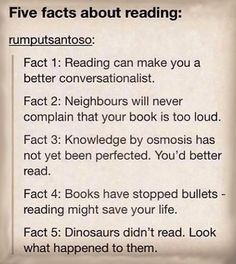 Why reading is important.