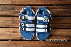 1cfcd91d1b0 PUMA Leadcat YLM HAM Velcro Sport Slides Blue White 365630-03 Latest. Puma  Slippers ...