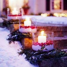 Candles, cranberries and salt