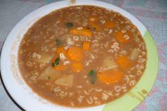 Receita de Sopa de feijão com macarrão.