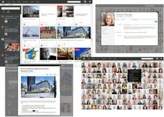 """My Beautiful Intranet DGW: of Omicron, Canada. Intranet Design, People Finder, Workplace, Vancouver, Photo Wall, Canada, Community, Beautiful, Digital"