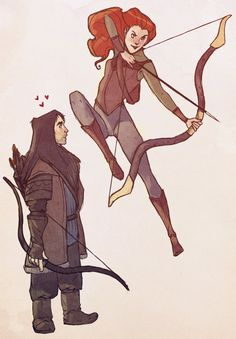 Kili & Tauriel by ~maxvinyl on deviantART