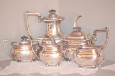 Antique EG Webster and Son Silver Coffee Tea Service - pinned by pin4etsy.com