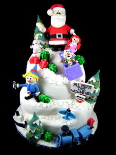 Land of the Misfit Toys excellent cake but needs Rudolph added