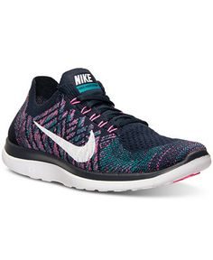 Nike Women's Free Flyknit 4.0 Running Sneakers from Finish Line - Sneakers - Shoes - Macy's