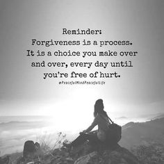 Let God help you forgive others and yourself.