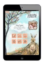 MyPreemie App home page on the iPad or other tablet