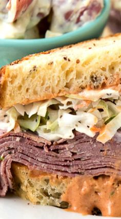Brooklyn Avenue Sandwich {Pastrami, Cole Slaw, Russian Dressing & Rye}