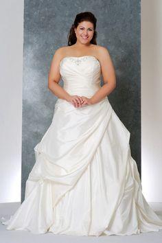 Wedding Dresses A Line Strapless Court Train Taffeta USD 229.89 BAPG6J5S93 - BallProm.com